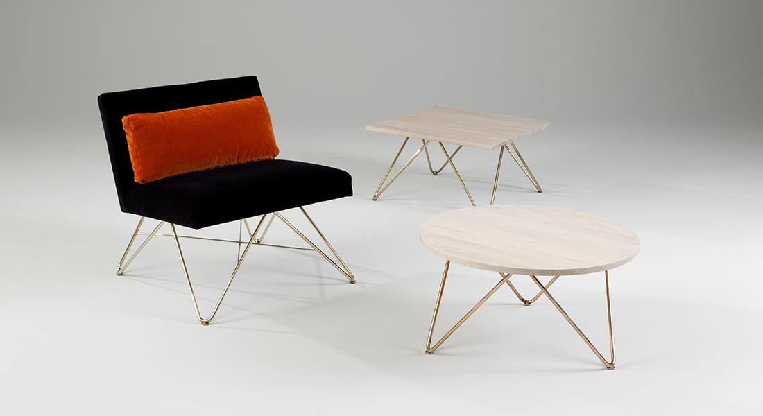 Brass Pipe Kitchen Chairs