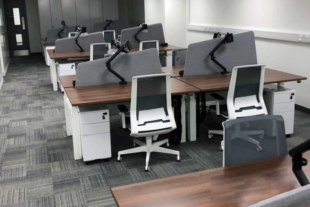 Sagal Group Electric sit/stand workstations and Look task chairs