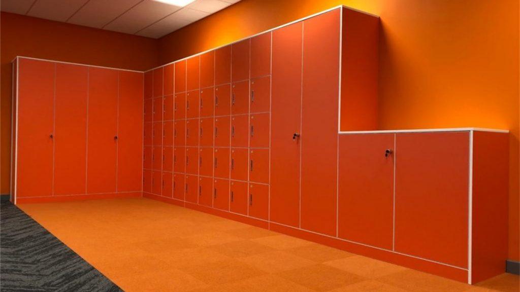 Sagal Group Orange storagewall and lockers