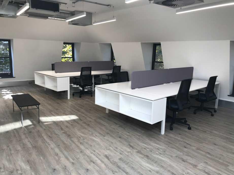 Tris CATA Plus furniture fit out - white desks